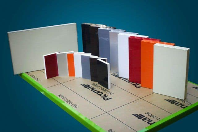 mẫu màu nhựa picomat phủ acrylic