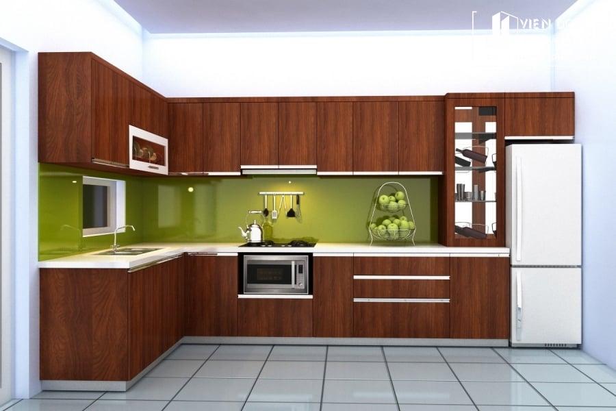 tủ bếp inox 304 chữ L