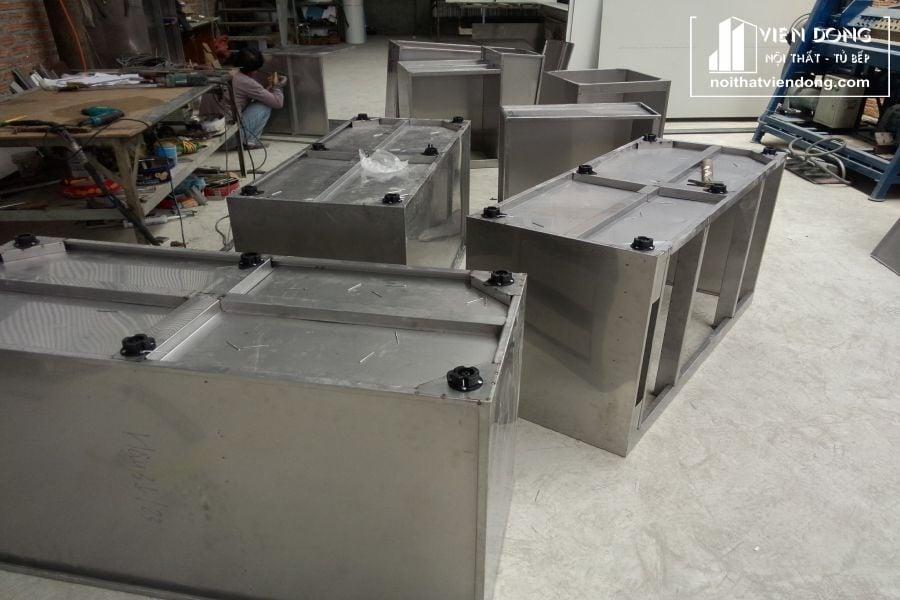 kết câu modul tủ bếp inox