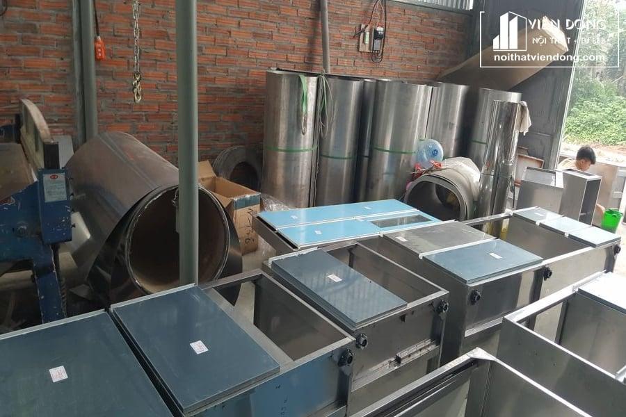 mẫu modul tủ bếp inox tại xưởng