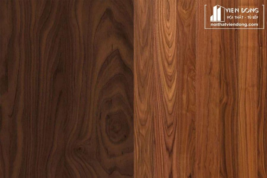 màu sắc gỗ óc chó tự nhiên