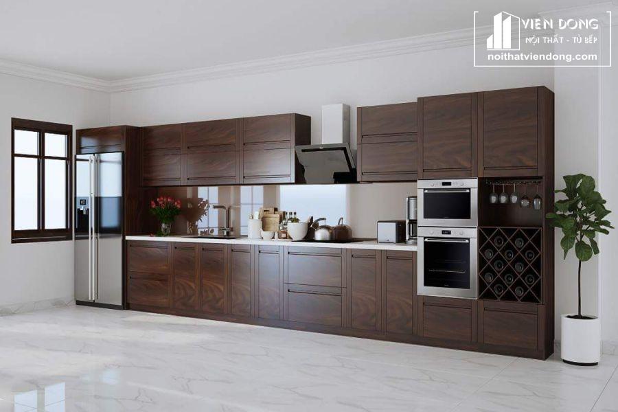 mẫu tủ bếp gỗ óc chó đẹp 013
