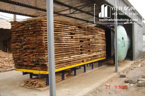 quá trình sấy gỗ tự nhiên