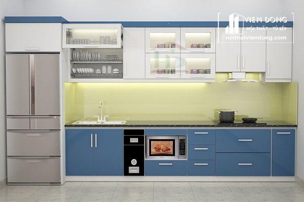 mẫu tủ bếp chữ i cho chung cư - hình 2