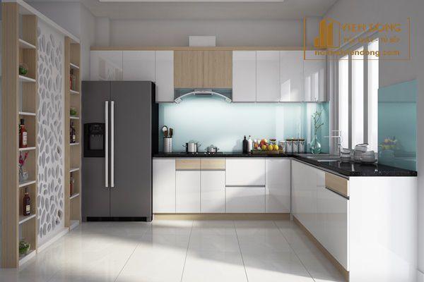mẫu tủ bếp chữ L đẹp - hình 1