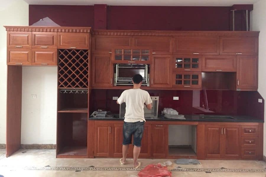 thực tế lắp đặt tủ bếp