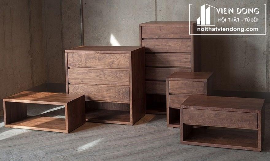 nội thất làm từ gỗ óc chó