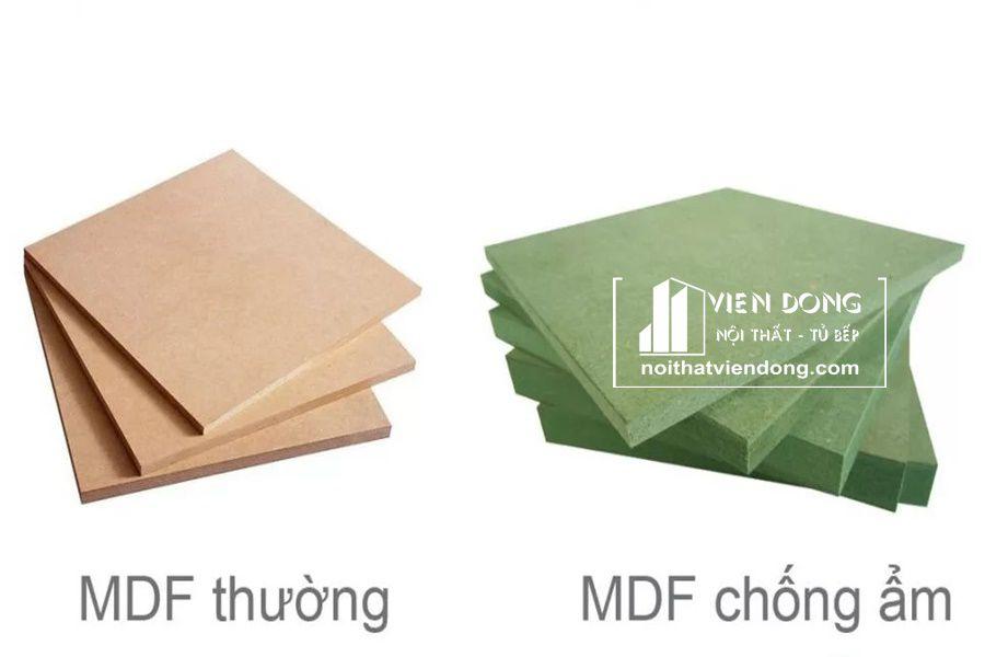 Phân biệt Gỗ MDF lõi xanh hay còn gọi MDF chống ẩm với MDF thường