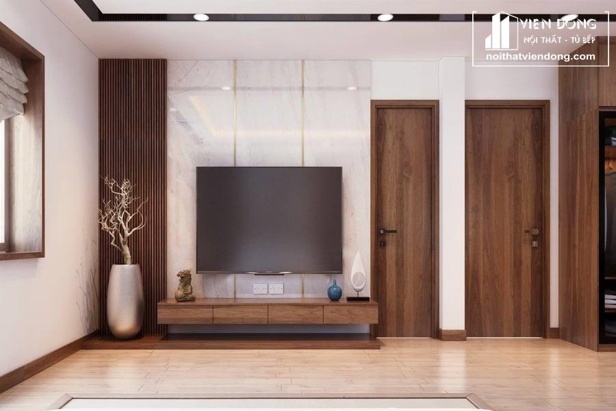 Kệ tivi gỗ acrylic