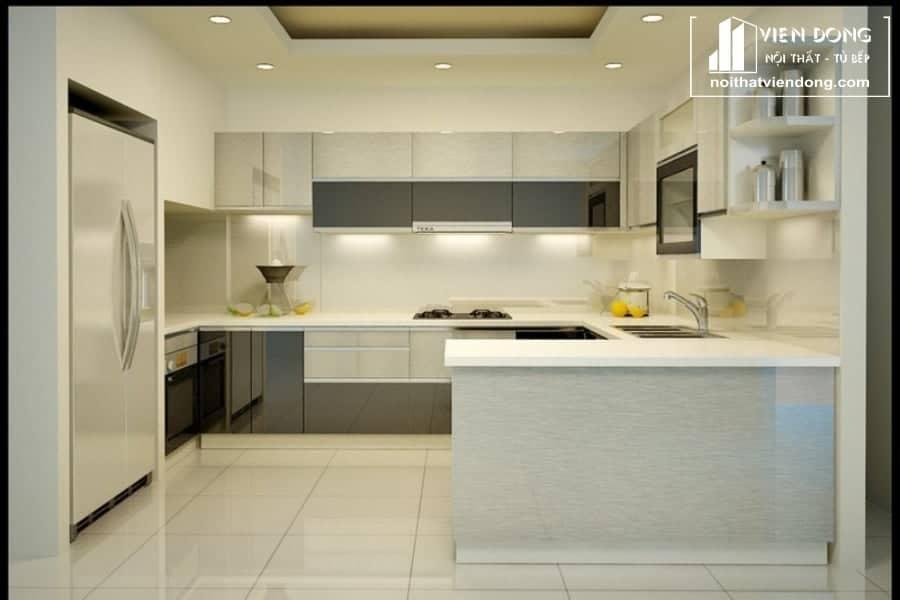 Tủ bếp acrylic đẹp ARC003