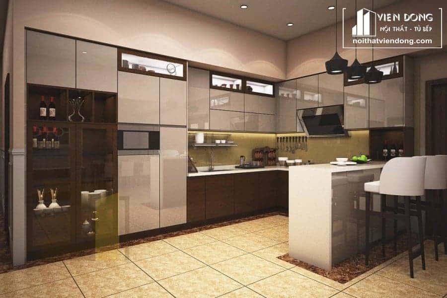 Tủ bếp acrylic ARC017