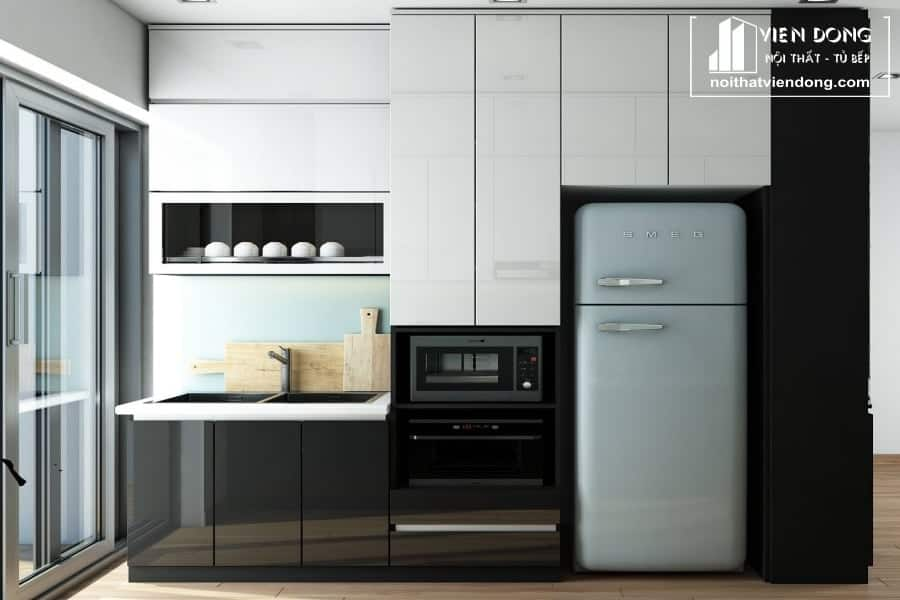 Tủ bếp acrylic arc020