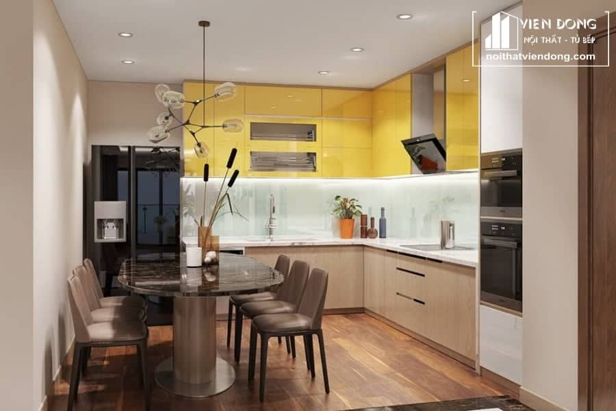 Tủ bếp acrylic arc019