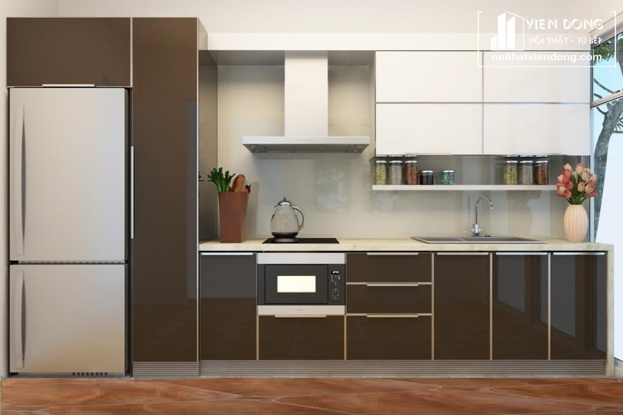 Tủ bếp acrylic an cường ARC004