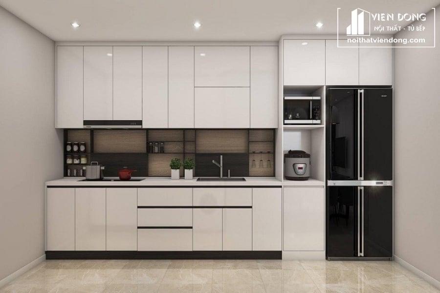 Tủ bếp acrylic Arc001
