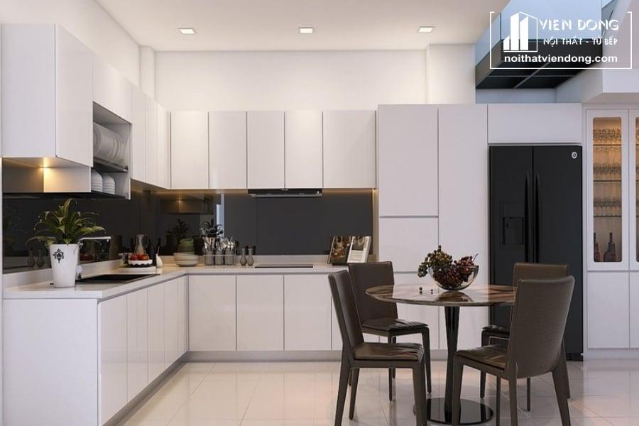 Tủ bếp acrylic Arc002