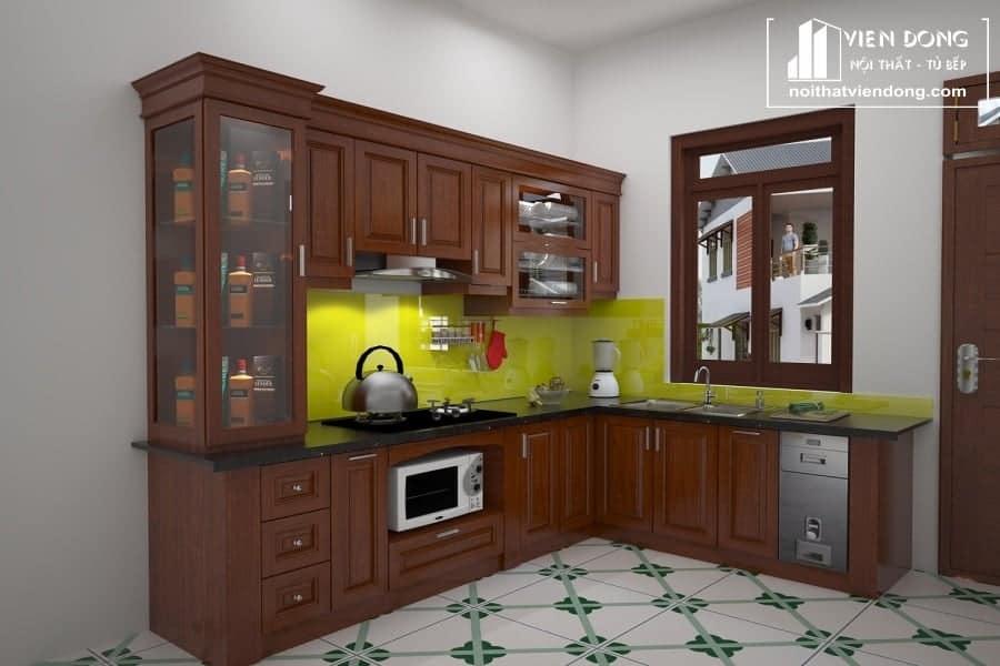 Tủ bếp gỗ xoan đào tây bắc