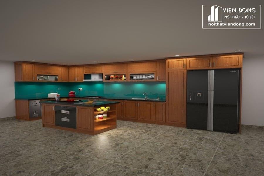 Tủ bếp gỗ xoan đào gia lai