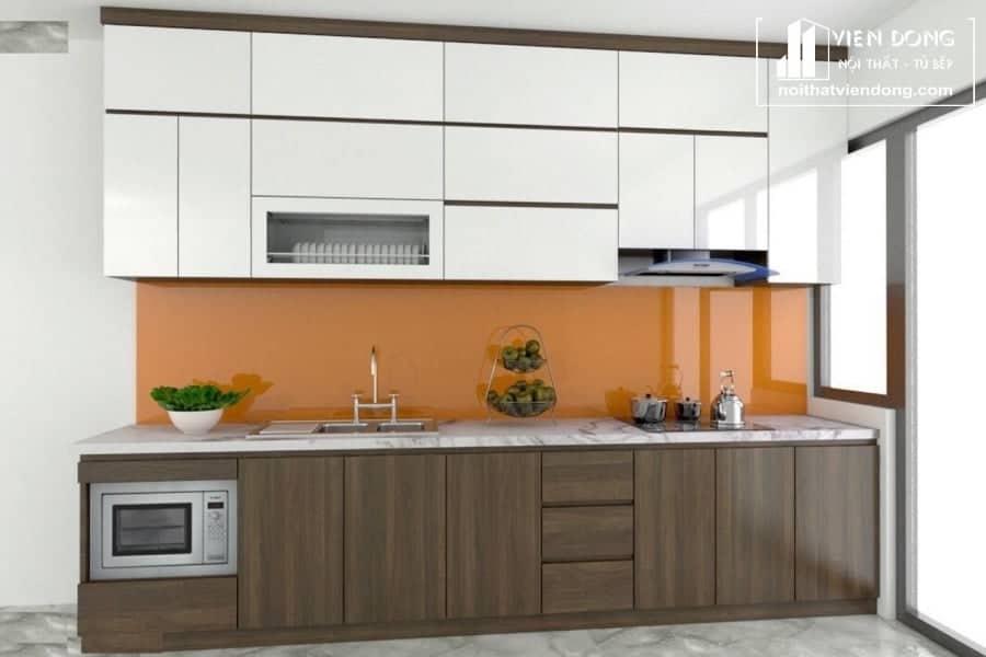 Tủ bếp inox cánh acrylic