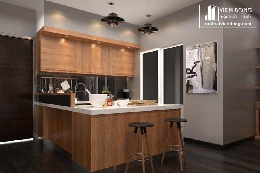 Tủ bếp laminate cao cấp