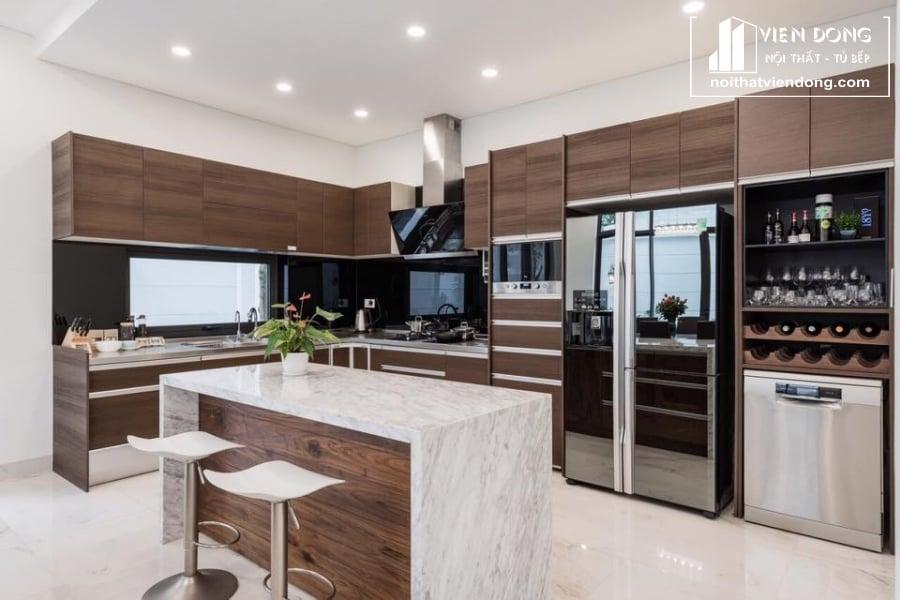 Tủ bếp laminate LK004