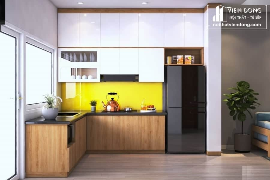 Tủ bếp laminate LK002