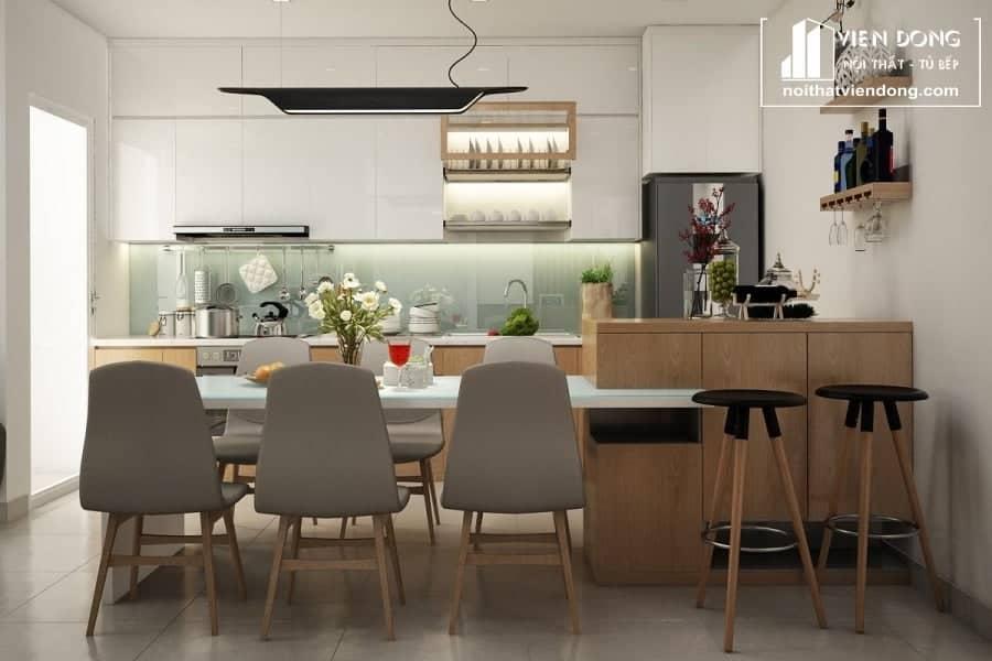 Tủ bếp Melamine TBM006