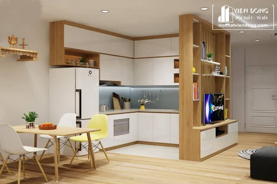 Tủ bếp Melamine TBM004
