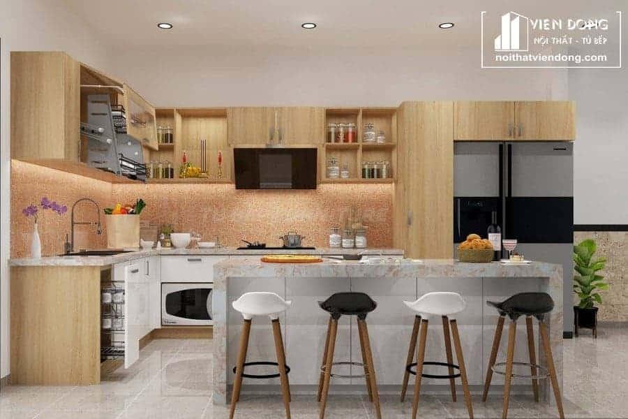 Tủ bếp MFC phủ Melamine