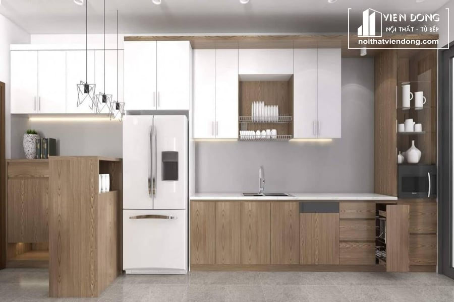 Tủ bếp MDF phủ Melamine