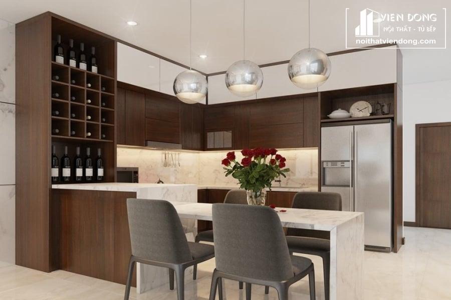 Mẫu tủ bếp Melamine
