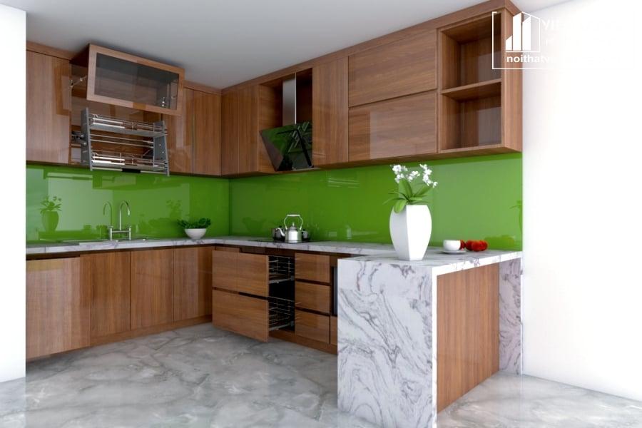 Tủ bếp Melamine giá rẻ