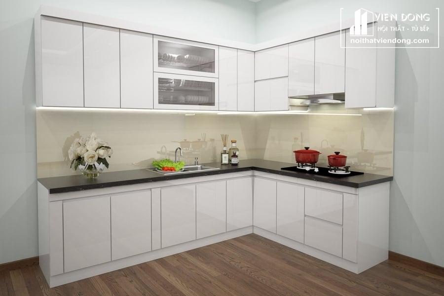 Tủ bếp nhựa chữ L
