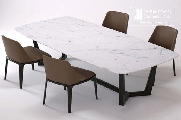mẫu bàn ăn mặt đá hiện đại