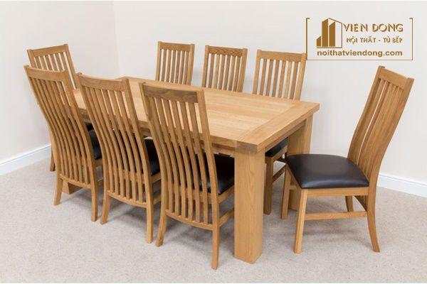 bộ bàn ghế ăn 8 ghế