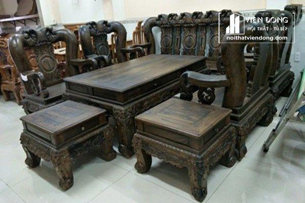 bộ bàn ghế phòng khách gỗ