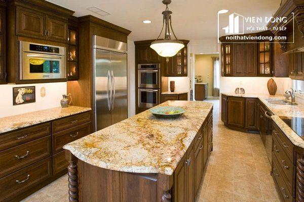 đá hoa cương dùng ốp mặt bàn bếp