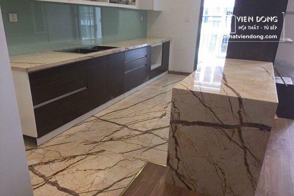 đá marble ốp bàn bếp và bàn đảo
