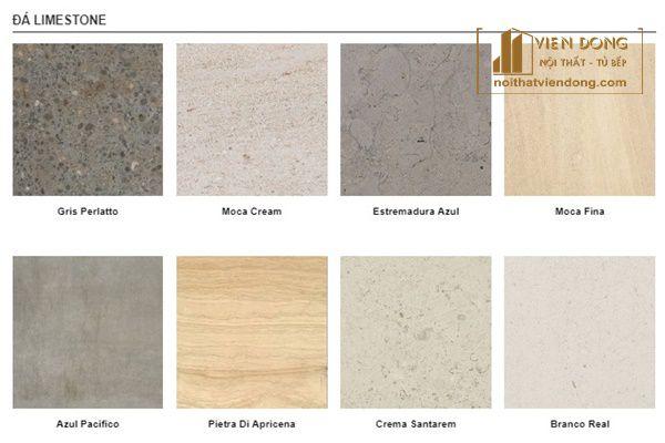 màu sắc đa dạng đá limestone