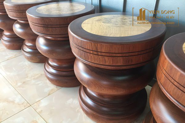Đôn gỗ hình tròn