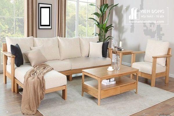 bộ bàn ghế phòng khách đơn giản