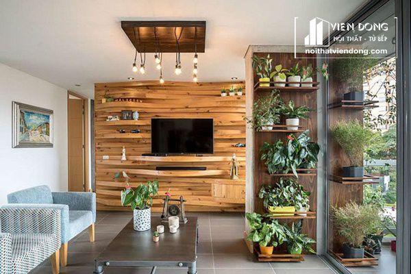Ảnh 1: Tường gỗ ốp gỗ