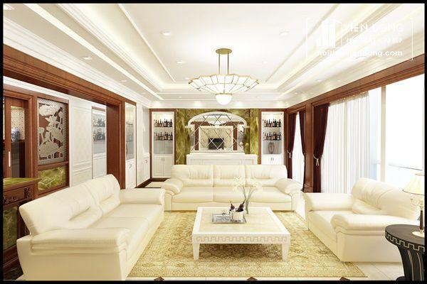 Ảnh 1: Phong cách phòng khách tân cổ điển