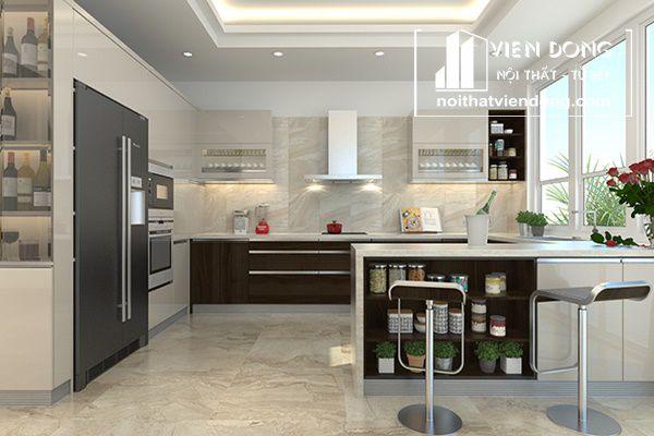 Phòng bếp hiện đại trẻ trung