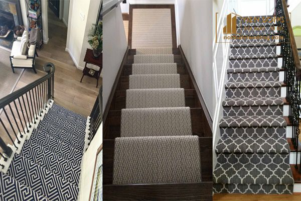Trang trí cầu thang bằng thảm