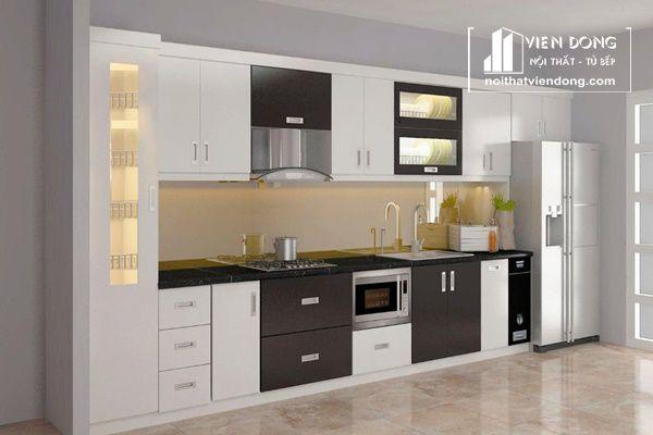 Tủ bếp Acrylic nổi tiếng với phong cách hiện đại