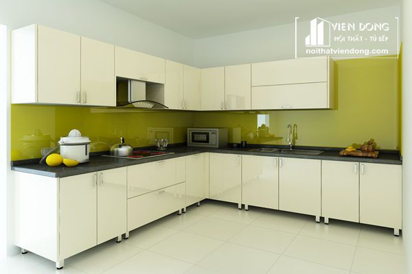 tủ bếp inox bền bỉ với thời gian
