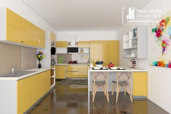 Nên lựa chọn màu sắc tươi sáng cho căn bếp