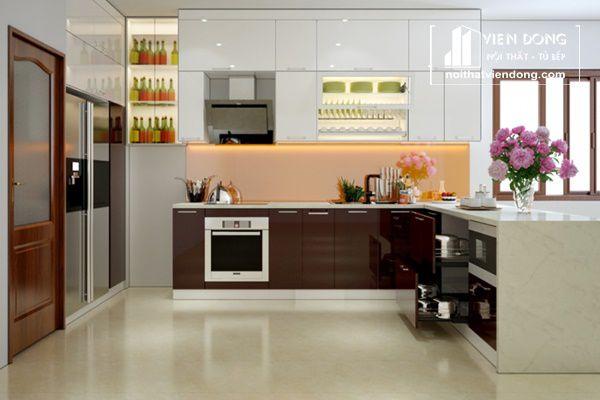 Tủ bếp Acrylic đang được ưu tiên lựa chọn