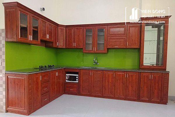 Tủ bếp nhôm kính rẻ và thông dụng